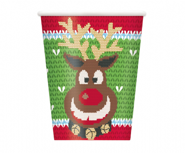 Christmas Ugly Sweater Paper Cups (8)